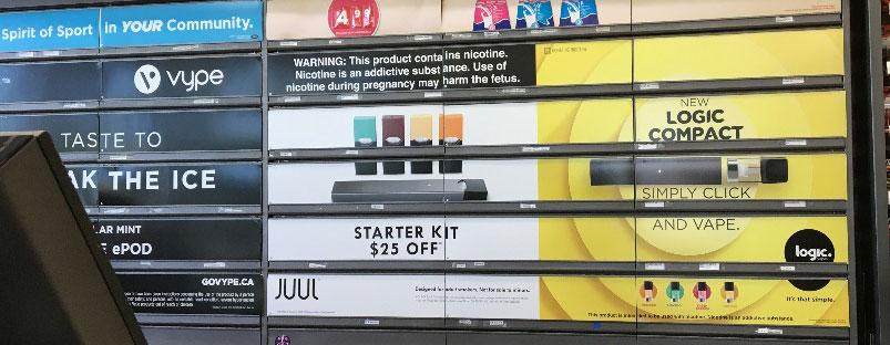 Convenience Store vape display